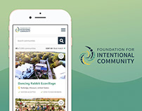Mobile Mockups for Intentional Community Site