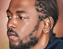 Kendrick Lamar Digital Art by Wayne Flint