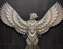 Paper Sculpture Art Bird