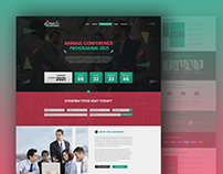 Conference Event Program Landing Page UI