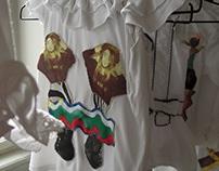 B-E-S-T-I-A-R-Y (textile collage)