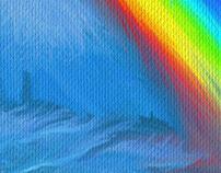 Magical rainbow seas
