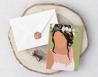 Flower Crown Wedding Invite