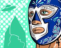 El Luchador Silkscreen Poster