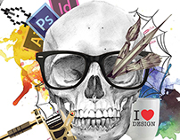 Ad Campaign for graphic design festival. DesignInk.