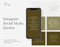 Instagram Social Media Quotes Editable Templates PS