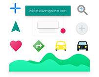 Materialize system icon