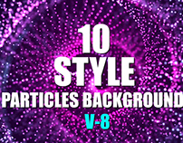 10 Style Light Particles Waves Background
