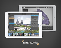 Land Securities iPad app UI mockups