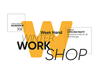 Week Hand Winter Workshop Poster and Flyer design