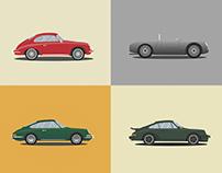 Porsche Timeline IllustrationSeries