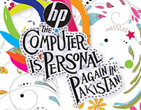 HP Pakistan Poster | Art Dir, Illustration & Design