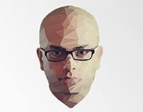 Ahmed Mourad Polygonal Portrait