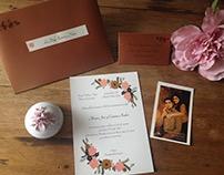 Tarjetas vintage de matrimonio