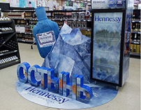 "Hennessy very special  ""iceberg "" installation for shop"