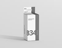 Box Mockup - Medium Rectangle Size with Hanger