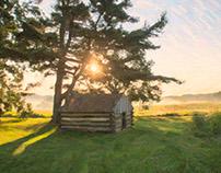 Sun over a Hut