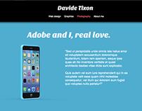 Davide Tixon   Landing page template