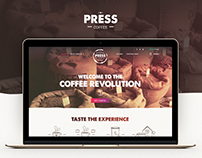 Press Coffee Landing Page