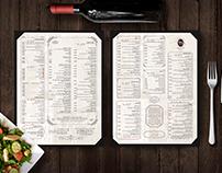 מסעדת נילי - עיצוב תפריטים | Nili's menus design