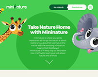 Mininature: AR App Website Concept