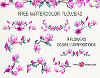 FREE WATERCOLOR MAGNOLIA