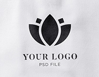 Fabric Effect Logo Mockup