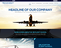 Aviation Landing Page Design