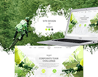 Web-design for sports bicycle competition,