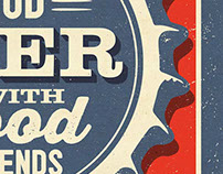 Drink Good Beer With Good Friends - Prints