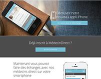 MedecinDirect web design