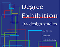 Degree exhibition posters.