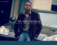 Mr. Marc Williams Website Mockup