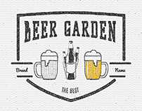 Beer vector set badges and logos