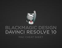 Da Vinci Resolve 10 cheat sheet