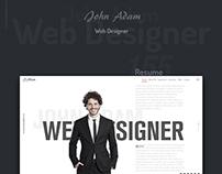 John Adam's One Page Resume Website