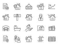 20 Real Estate Vector Icons