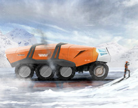 Scifi matte painting - Arctic truck