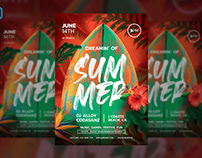 Dreaming Of Summer - Summer Flyer Template