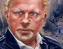 Digital portrait of Boris Becker