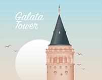 Istanbul Galata Tower -İstanbul Galata Kulesi