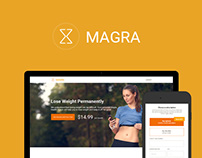 Landing page for Magra app