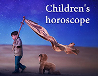 "Landing page ""Children's horoscope"""