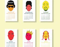 2019 CALENDAR - Hip-hop Edition