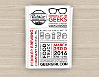 Drinks With Geeks - A GeekGirlCon 2016 Fundraiser