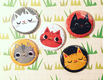 Itty Bitty Kitty Magnet Set