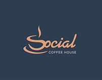 Social Coffee House Brand Identity