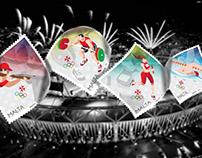 Olympics 2016 Malta Stamp Design
