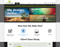 Lime Canvas website design