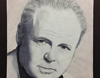 Carroll O'Connor Illustration